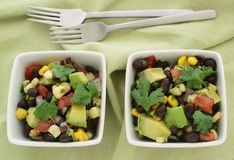 Black bean avocado salad Royalty Free Stock Images