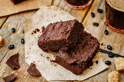 Black bean brownies Royalty Free Stock Image