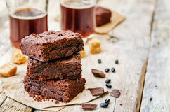 Black bean brownies Stock Photography