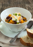 Black Bean Chili with Fall Vegetables Stock Images