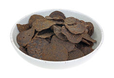 Black Bean Chips in Bowl Royalty Free Stock Photos