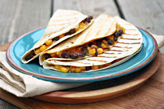 Black Bean Corn Quesadillas Stock Image