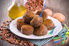 Black Bean Meatballs. Stock Photo