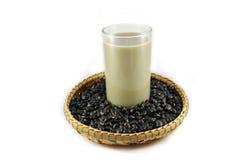 Black bean and milk Royalty Free Stock Photo