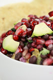 Black Bean, Pomegranate and Avocado Salsa Stock Images