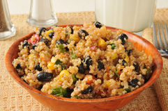 Black bean quinoa salad Royalty Free Stock Images