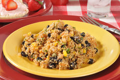 Black bean quinoa salad Royalty Free Stock Photos