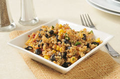 Black bean and quinoa salad Stock Photography