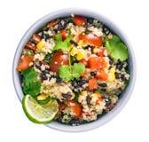 Black bean quinoa salad stock images