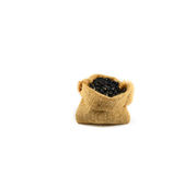 Black bean sacks Royalty Free Stock Photography