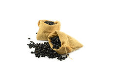 Black bean sacks Royalty Free Stock Image