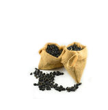 Black bean sacks Royalty Free Stock Photos