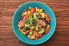 Black bean salad with avocado Stock Image