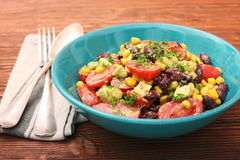 Black bean salad with avocado Royalty Free Stock Photos