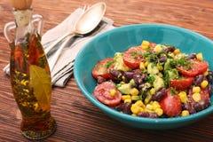 Black bean salad with avocado Stock Photography