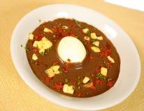 Black bean soup Stock Image