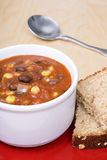 Black bean soup Royalty Free Stock Photo