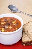 Black bean soup Royalty Free Stock Photo