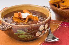 Black Bean Soup Royalty Free Stock Photos