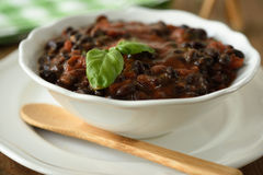 Black bean soup Stock Photography