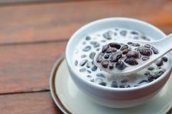 Black bean soup with coconut milk. Thai dessert Stock Photography
