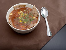 Black bean soup Royalty Free Stock Image
