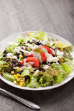 Black Bean Southwest Salad with vertical shot Stock Image