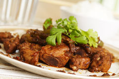 Black bean spare ribs Stock Photo
