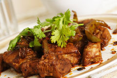 Black bean spare ribs Royalty Free Stock Photos
