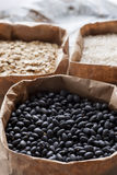 Black beans abd other grains. Royalty Free Stock Photography