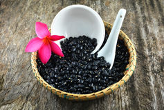 Black beans basket Royalty Free Stock Photography
