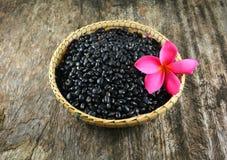 Black beans basket Royalty Free Stock Images