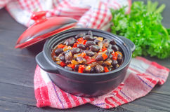 Black beans Stock Photos