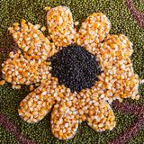 Black beans, green beans, corn Royalty Free Stock Photography