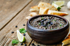 Black beans hummus Royalty Free Stock Photography