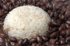 Black Beans and rice Stock Images