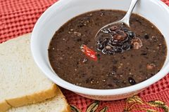 Black beans soup Royalty Free Stock Photo