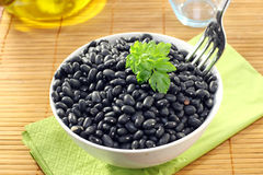 Black beans. On the table Royalty Free Stock Photography