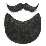 Black beard with curly mustache isolated on white Stock Image