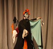 """Black beard painted face- Beijing Opera"""" Women Generals of Yang Family"""". This opera tells a patriotic story how does an old woman of a hundred years Stock Images"""