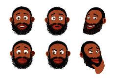 Black bearded man Stock Photo