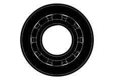 Black bearing on a white Royalty Free Stock Images