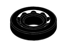 Black bearing on a white. Background, vector Stock Images