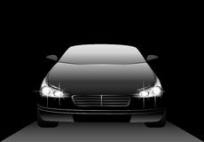 Black beautiful car Royalty Free Stock Photo