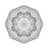 Black beautiful mandala. Royalty Free Stock Image