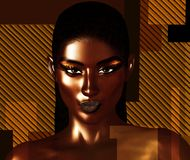 f57e7097d Black is Beautiful! A stunning close face of a beautiful black woman in a  realistic