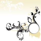 Black beautiful swirl frame Royalty Free Stock Photos