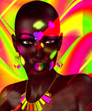 Black Beauty,Colorful Abstract Royalty Free Stock Photo