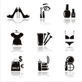 Black beauty and fashion icons Royalty Free Stock Photos