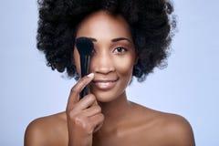 Black beauty model in studio Stock Image